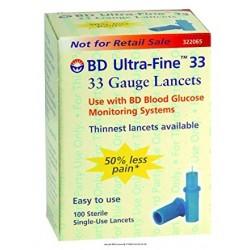 BD Ultra-Fine 33 Gauge Lancets